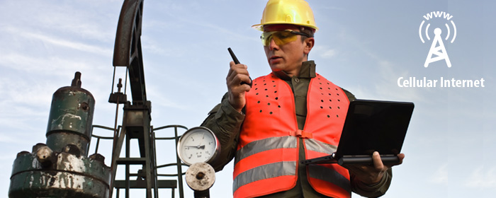 Cellular internet for the gas & oil industry