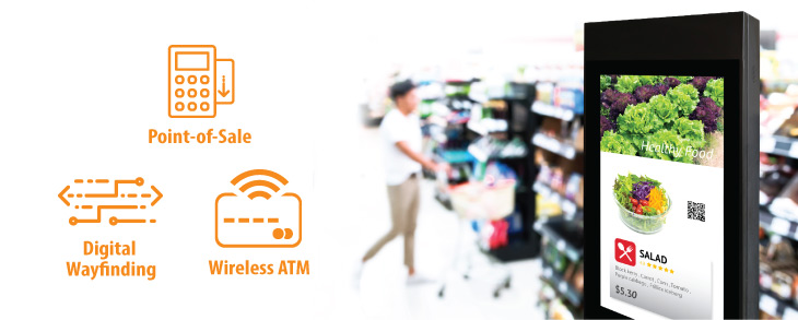 Retail & banking wireless data connection
